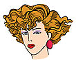 Hand-drawn Fashion Model. Vector Illustration. Woman's Face stock illustration