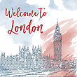 Hand Drawn Ink Line Sketch Of London. Vector Watercolor Background