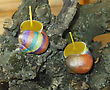Hand Painted Beeswax Candles Votives In Snail Shell stock photography