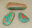 Hand Painted Stones - Rock Art stock photography