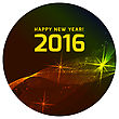 Happy 2016 New Year Vector On Black Background
