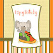 Happy Birthday Card With An Elephant Hidden In A Shoe