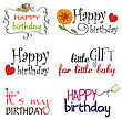 Happy Birthday Vector Lettering Series