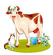 Happy Cow And Cat stock illustration