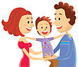 Happy Family.Vectorcolor Illustration stock illustration