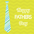 Happy Father's Day. Vector Card With Text On Seamless Anchor Pattern