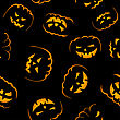 Happy Halloween Night Seamless Background. Vector Illustration.