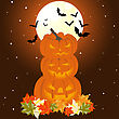 Happy Halloween Theme Greeting Card. Vector Illustration stock illustration