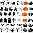 Happy Halloween Theme Icon Set. Vector Illustration.