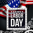 Happy Labor Day. Vector Illustration With USA Flag stock illustration