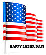 Happy Labor Day. Vector Illustration With USA Flag stock vector