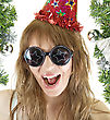 Happy Pretty Festive Woman stock photography