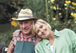 Happy Senior Couple Outdoors stock photography