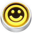Happy Smile Round Shape Application Icon