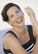 Happy Woman Laughing stock photography