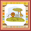 Happy Zoo, Vector Illustration stock illustration