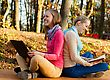Having Fun Time Together - Girl Reading Something Funny, The Other Laughing Out Loud stock image