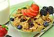 Healthy Breakfast With Bran And Raisin Cereal stock image