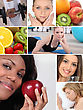 Healthy Living Themed Montage stock photography
