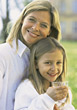 Healthy Looking Mom and Daughter stock image