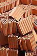 Heap Of Bricks. On Construction Of Building stock photography