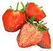 Heap Of Fresh Strawberries On White Background. Isolated
