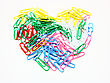 Heart From Paper Clips. stock photo