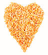 Heart Made Of Dried Shrimps