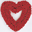 Heart of Red Roses stock photography