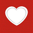 Heart On Red Background For Valentines Day stock illustration