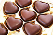 Heart Shape Chocolates In Box. stock photo