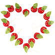 Heart Shape Frame From Christmas Decorative Apple stock photo