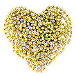 Heart Shape From Christmas Decorative Golden Garland stock photo