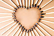 Stylized Heart Shape From Matches stock image