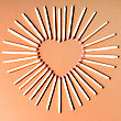 Heart Shape From Matches stock image