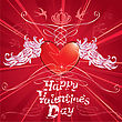 Heart And Wings,abstract Background For Valentine`s Day Design stock illustration