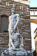 Hercules And Cacus Statue Near Palazzo Vecchio. Florence, Italy stock photo