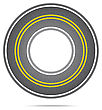Highway In A Circle With Asphalt Texture With Noise. Vector Illustration