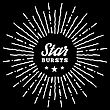 Hipster Style Vintage Star Burst With Ray. Vector Illustration With Hand Drawn Elements