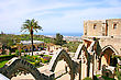 Historic Bellapais Abbey In Kyrenia, Northern Cyprus.Original Construction Was Built Between 1198-1205, It Is The Most Beautiful Gothic Building In The Near East. stock photography