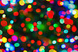 Holiday Background From Color Unfocused Lights