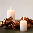 Holiday Candle Background stock photography