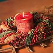 Holiday Candle Decor stock photography