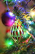 Holiday Decorations On Christmas Tree stock photography
