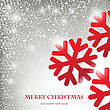 Holiday Greeting Card With Abstract Christmas Snowflakes , Place For Our Text