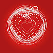 Holiday Greetings Card. Heart On Red Background For Valentine`s Day. Look My Portfolio To Find More Images Of The Same Series