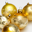 Holiday Ornaments Background stock photography
