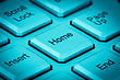 Home Key On A Keyboard In A Blue Tone stock photography
