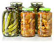 Homemade Preserved Vegetables stock photo