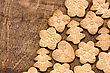 Homemade Various Christmas Gingerbread Cookies On Wooden Background With Copy Space stock photography